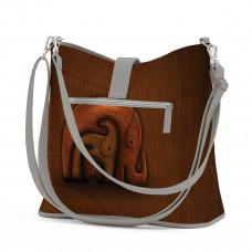 Сумка на плечо BG12 «Деревянные слоны»