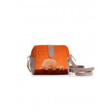 Сумка кросс-боди BAG6 «Слоны оранжевые»