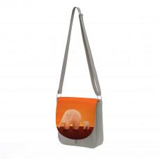 Сумка кросс-боди BG10 «Слоны оранжевые»