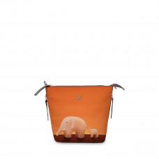 Сумка кросс-боди BAG8 «Слоны оранжевые»
